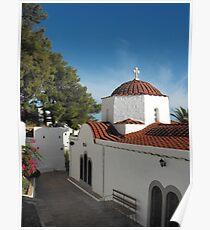 Greek Island Church  #photography Poster