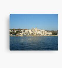 Greek Island Beauty Canvas Print