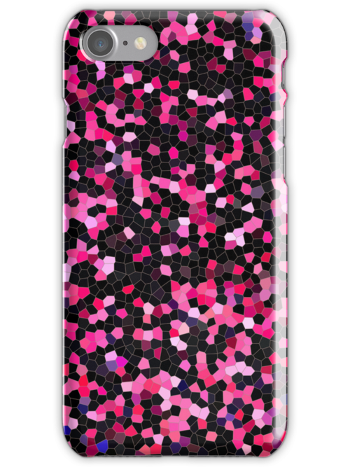 Pink and black mosaic design by SylviaCook