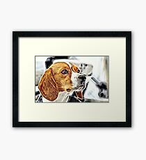 Wild nature - dog #4 Framed Print