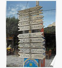 Kalymnos Greek Island direction Poster