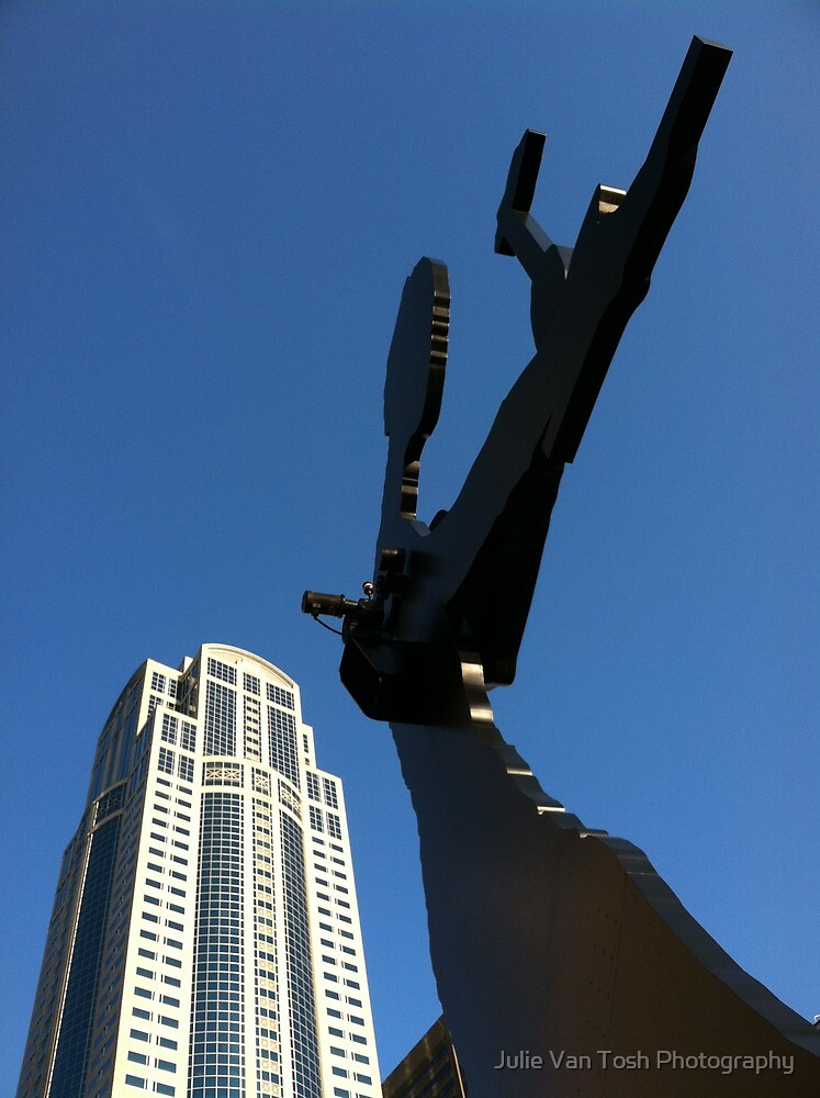 Hammering Man on a sunny, fall day. by Julie Van Tosh Photography
