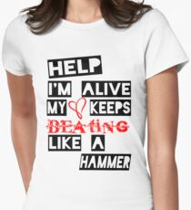Help I'm Alive Women's Fitted T-Shirt