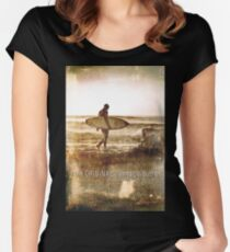 The Original Vintage Surfer Women's Fitted Scoop T-Shirt