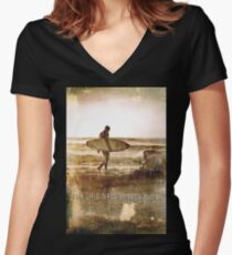 The Original Vintage Surfer Women's Fitted V-Neck T-Shirt