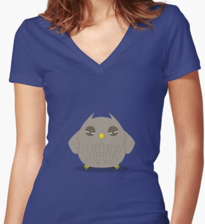 Sc-Owl Women's Fitted V-Neck T-Shirt