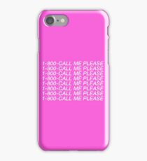 """1-800-CALL ME PLEASE (Drake inspired """"Hotline Bling"""" design) iPhone Case/Skin"""
