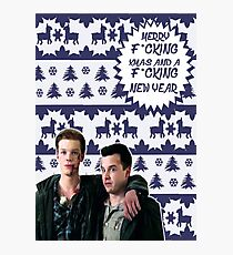 Merry F*cking Christmas [[Gallavich]] II Photographic Print