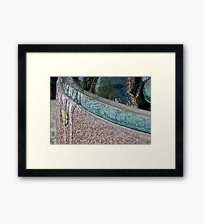 Frozen Bath Water Framed Print