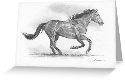 Galloping horse sketches - photo#50