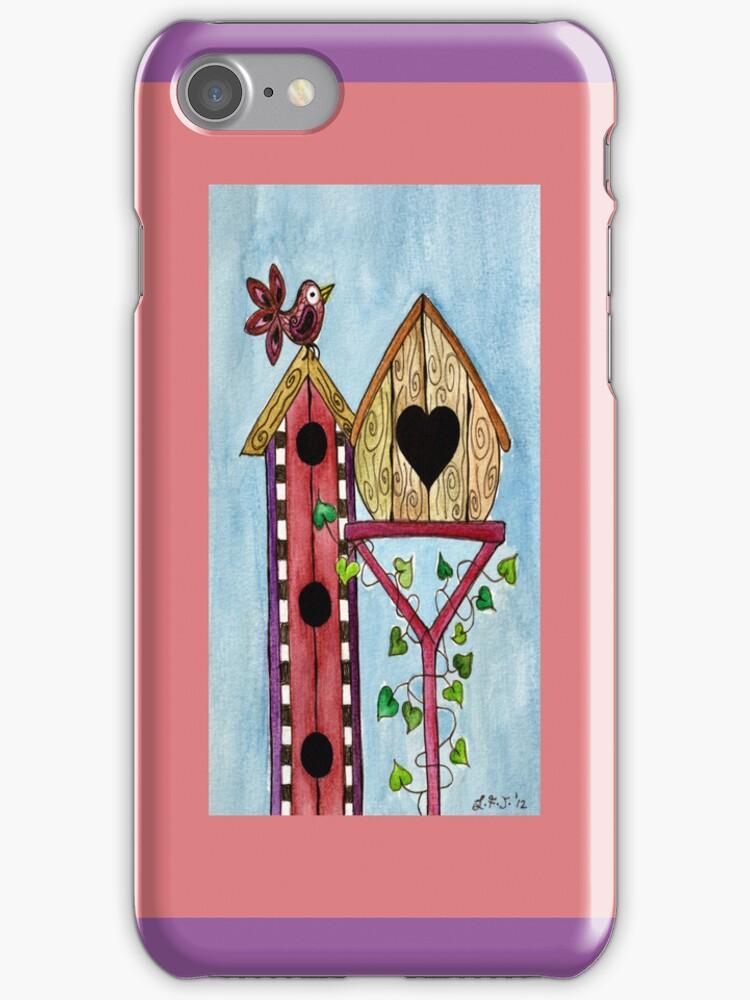 BIRD HOUSE IPHONE COVER by Lisafrancesjudd