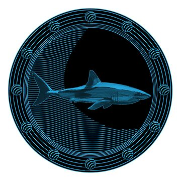Engraved Shark by BillCournoyer