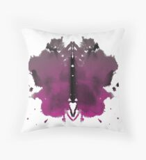 Rorschach test in color Throw Pillow