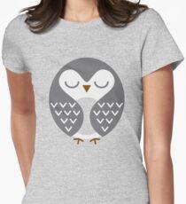Sleeping Bird Womens Fitted T-Shirt