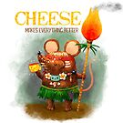 Cute Cave Mouse and his Cheese by colonelle