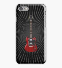 Red Electric Guitar iPhone Case/Skin