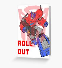 Optimus Prime - Roll Out Greeting Card