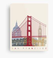 San Francisco skyline poster Metal Print