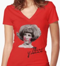 Miss Yvonne Women's Fitted V-Neck T-Shirt