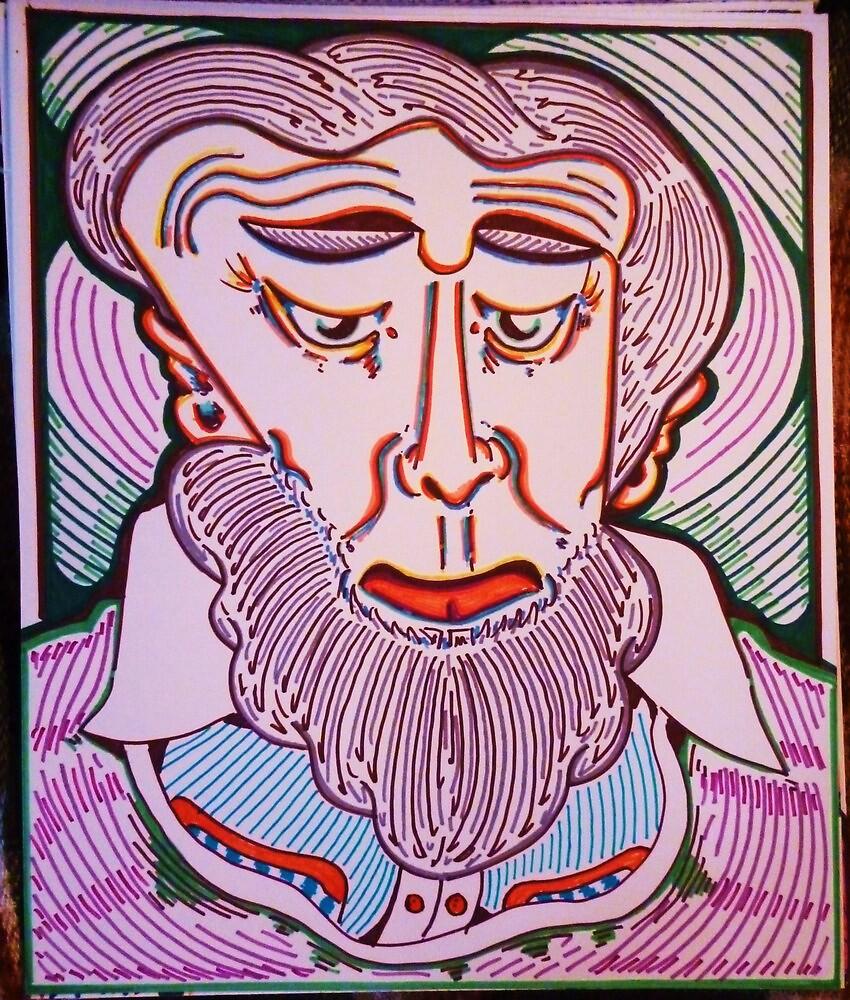 gray beard  by madvlad