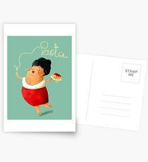 Spaghetti Pasta Lady Postcards