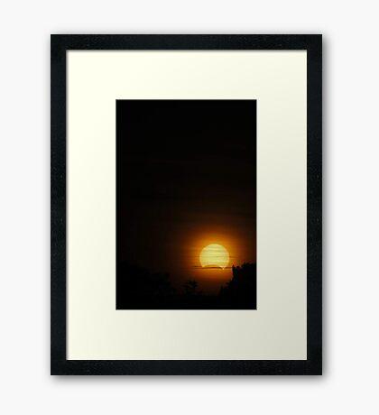 Solar Eclipse - November 14 2012  Framed Print