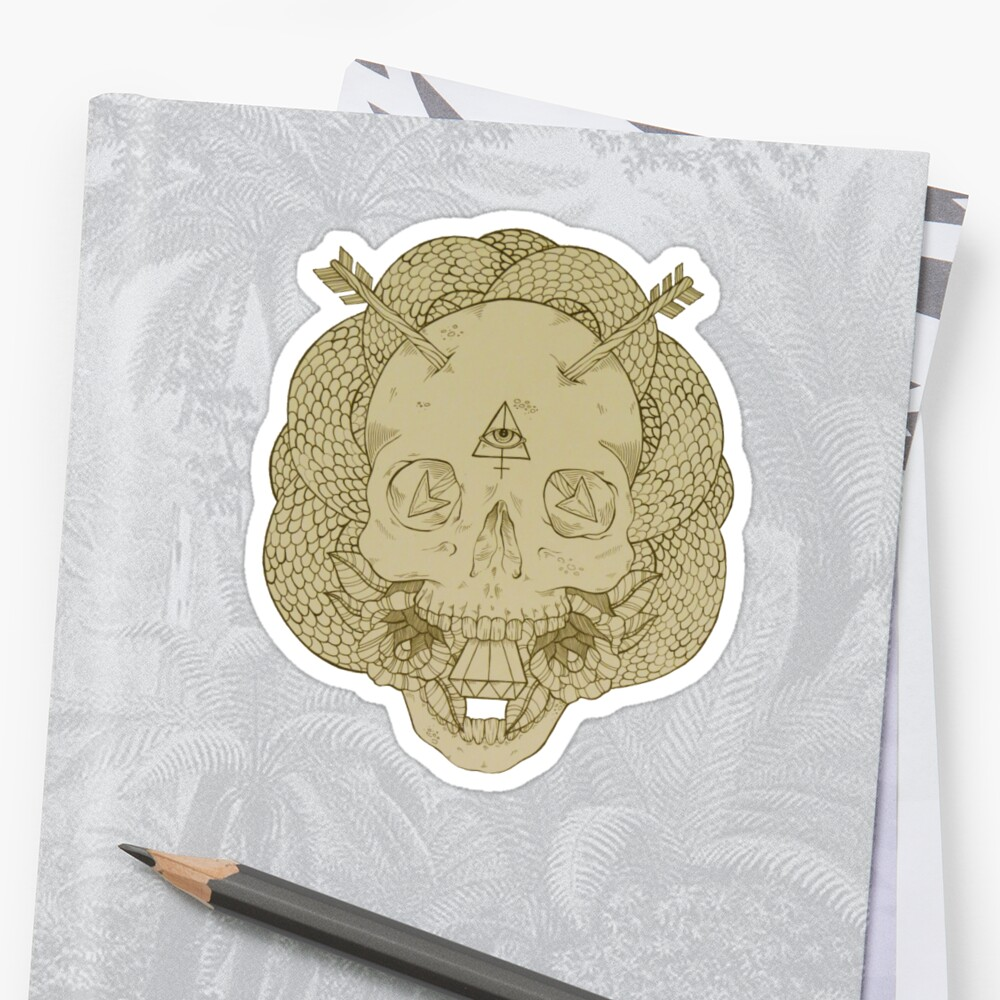 Skulls and Arrows Solid by Heather Hartz