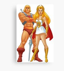 He-Man And She-Ra Canvas Print