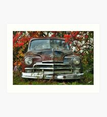 Old Rusty Plymouth - Maine Art Print