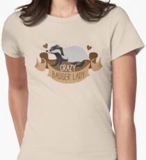 Crazy Badger Lady banner T-Shirt