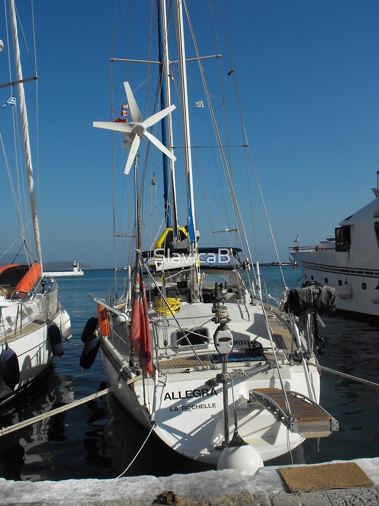 Sailboat Amel Sail docked #photography by SlavicaB