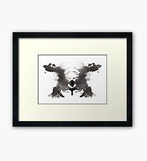 Rorschach test 03 Framed Print