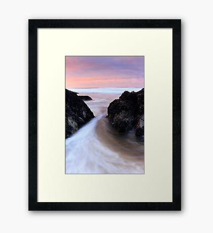 Between the Rocks - Dingle Co. Kerry Framed Print