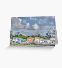 Fort Charlotte view from Arawak Cay in Nassau, The Bahamas Greeting Card