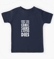 Comic Sans Kids Tee