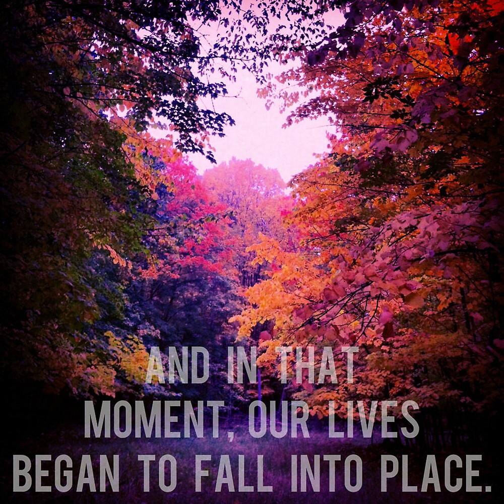 And In That Moment, Our Lives Began To Fall Into Place by Josrick