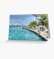 Atlantis view from Arawak Cay in Nassau, The Bahamas Greeting Card