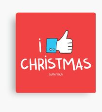 i like Christmas (with you) Canvas Print