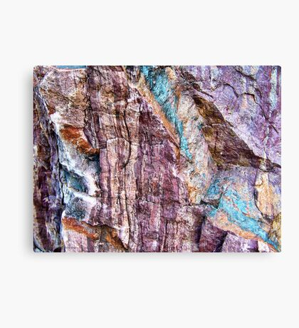 Painted in Stone Canvas Print