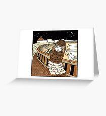 Moiras Moonlight (Aberdeen Beach) Greeting Card