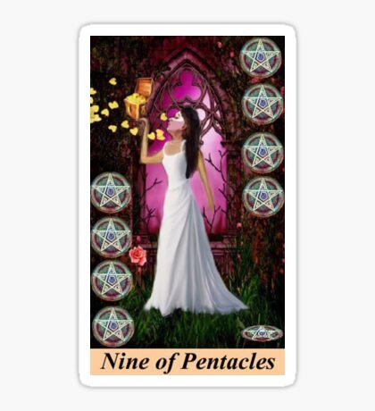NINE OF PENTACLES Sticker