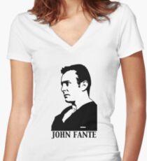 John Fante Women's Fitted V-Neck T-Shirt