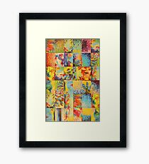 COLORFUL INDECISION 1 - Bold Bright Beautiful Abstract Acrylic Painting Collection Nature Rainbow Framed Print