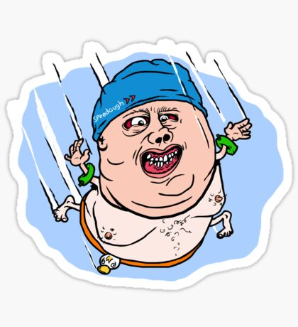 Fat Guy High Dive Sticker