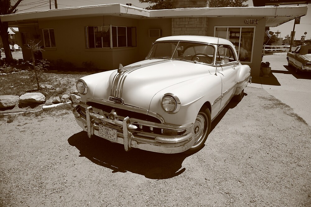 Route 66 - Classic Pontiac by Frank Romeo