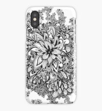 Doodle blossoms iPhone Case/Skin