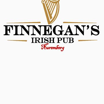 Finnegans Irish Pub Blabk Lettering Logo by FinnegansNbg