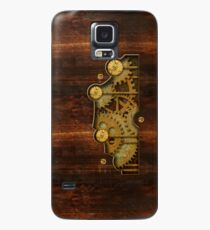 Brass and old wood Steampunk cover Case/Skin for Samsung Galaxy