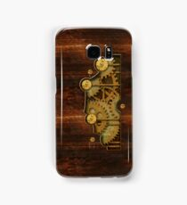 Brass and old wood Steampunk cover Samsung Galaxy Case/Skin