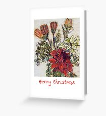 Flower Christmas card Greeting Card